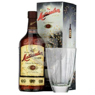 Matusalem Gran Reserva 15 Years Rum (DD+Pohár) [0,7L|40%]