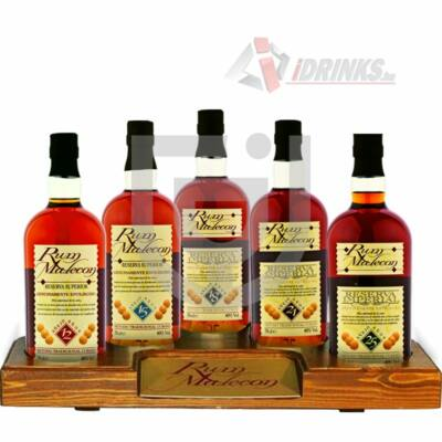 Malecon Rum Kollekció (Fa tartóval) [5*0,7L 40%]